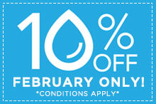 February Special, 10% OFF!